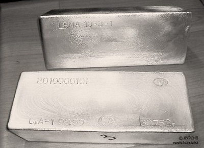 Серебро в слитках высшей пробы