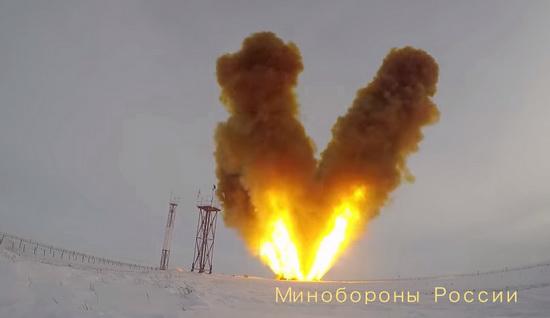 """Запуск ракетной системы """"Авангард"""""""